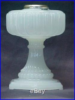 Aladdin White Moonstone Oil Lamp, Fancy Lamp
