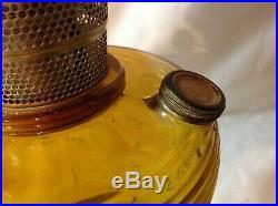 Aladdin dark Amber beehive kerosene oil lamp excellent condition