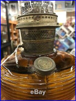 Aladdin dark Amber beehive lamp excellent condition