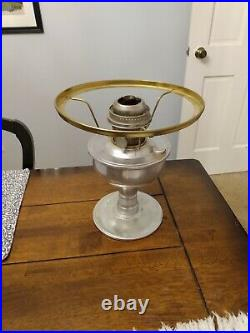 Aladdin kerosene table lamp with shade