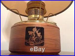 Aladdin model 23 sailboat nautical Brass Kerosene Oil Lamp Electric light vtg
