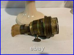 Aladdin model B-60 short Alacite Lincoln drape kerosene oil lamp burner excellen
