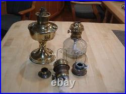 Aladdin vintage oil lamps with spare parts