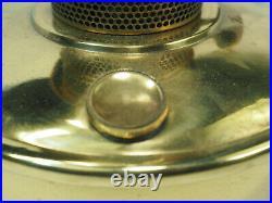 Aladdin wall bracket Caboose oil Lamp Model B-400 brass font burner chimney