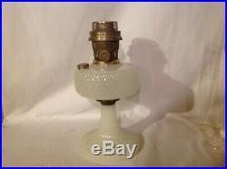 Aladdin white moonstone diamond quilt kerosene oil lamp base model B burner