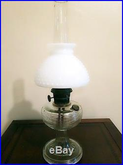 All Original ALADDIN Clear Beehive Kerosene Lamp with Original Chimney& Shade