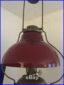 Amazing Aladdin oil kerosene hanging lamp #6 Ruby Red Shade Only