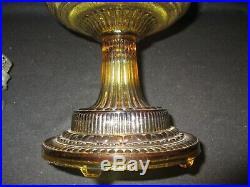 Amber Aladdin Colonial Oil Lamp1933