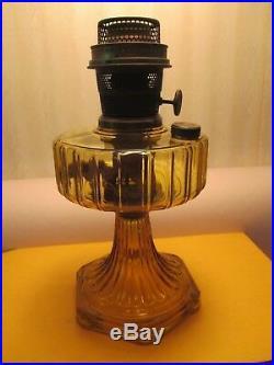 Amber Aladdin Oil Lampcorinthian 1935-1936
