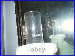 Ant/vtg Aladdin Pink Alacite Lincoln Drape Kerosene/oil Lamp#23 Burner