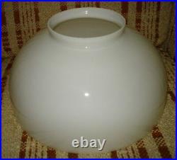 Antique 14 Fitter Student Kerosene Oil MILK GLASS LIGHT LAMP SHADE Aladdin GWTW