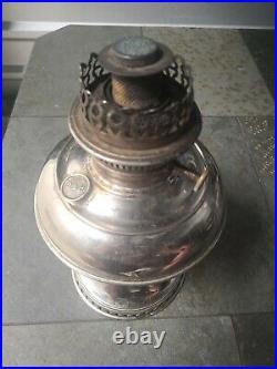 Antique 1905 RAYO ALADDIN STYLE KEROSENE OIL LAMP ORIGINAL B&H CHIMNEY