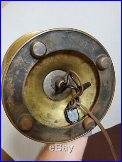 Antique 1911-12 Aladdin Model 3 Style Brass Kerosene Electrified Parlor Lamp