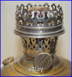 Antique 1913 14 Aladdin Model 5 Nickle Plated Kerosene Oil Table Lamp