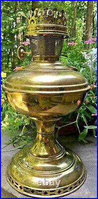 Antique 1915-16 ALADDIN MODEL No 6 Brass Table Lamp with No. 6 Burner