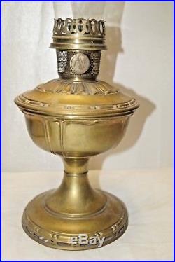 Antique 1919 20 Aladdin Model 8 Satin Brass Finish Kerosene Oil Table Lamp