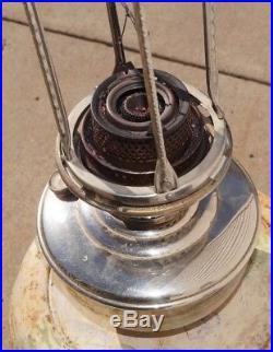 Antique 1928 1935 Aladdin Model 12 Oil Kerosene Hanging Lamp With Flame Spreader