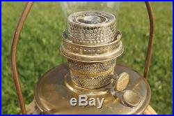 Antique 1935 41 Aladdin Model B B-162 Bronze Finish Kerosene Oil Hanging Lamp