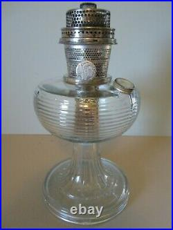 Antique 1937 1938 Aladdin Crystal Beehive Lamp Complete with Original Shade