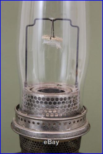 Antique 1937 Aladdin Ruby Red Beehive Kerosene Oil Lamp, Burner & Chimney NR