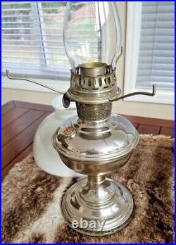 Antique ALADDIN Kerosene Oil Table Lamp Model No. 11 Original