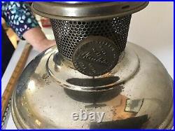 Antique ALADDIN Kerosene Oil Table Lamp Model No. 11 Original Base Chimney nice