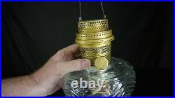 Antique ALADDIN WASHINGTON DRAPE Kerosene OIL LAMP withNu-Type B Burner CLEAN