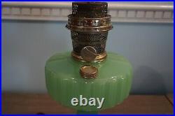 Antique APPLE GREEN ALADDIN CORINTHIAN B-111 OIL LAMP 1935-1936 MODEL B Original