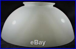 Antique Aladdin #203 Opal White Glass Hanging Kerosene Lamp Shade 6 Top x 14