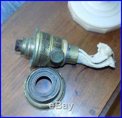 Antique Aladdin Alacite Lincoln Drape Nu-Type B Burner Kerosene Oil Lamp & Shade