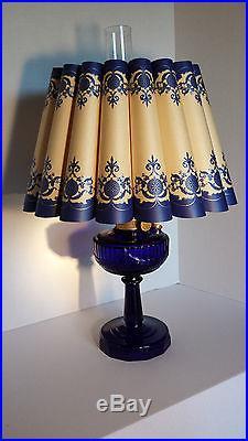 Antique aladdin b 76 cobalt blue lincoln drape oil lamp shades o antique aladdin b 76 cobalt blue lincoln drape oil lamp shades o light shade aloadofball Gallery
