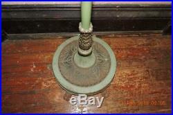 Antique Aladdin B Kerosene Green Banquet Floor Lamp Cast Iron Claw foot Base