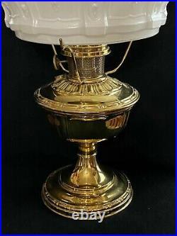 Antique Aladdin Brass Model No. 8 Oil Kerosene Lamp