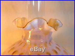 Antique Aladdin Corinthian Fenton Honeysuckle Combo Lamp w Shade Electric Option