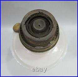 Antique Aladdin Ivory Glass Alacite Lincoln Drape Old Kerosene Oil Lamp FREE S/H
