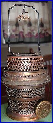Antique Aladdin Jadeite Kerosene Oil Lamp, Moonstone Nu-Type Model B Burner
