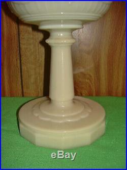 Antique Aladdin Kerosene Oil Lamp B-75 Scallop Foot Tall Lincoln Drape