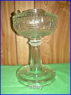 Antique Aladdin Kerosene Oil Lamp Clear Tall Lincoln Drape