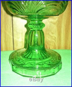 Antique Aladdin Kerosene Oil Lamp Model B-48 Bell Stem Washington Drape