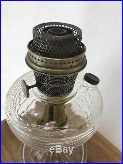 Antique Aladdin Kerosene Oil Lamp Model B Beehive Clear Glass Vtg Art Deco 30s