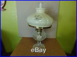 Antique Aladdin Kerosene Oil Lamp Washington Drape Peacock Shade