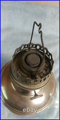 Antique Aladdin Lamp Model 11, Kerosene Oil Lamp 1920's Nickel