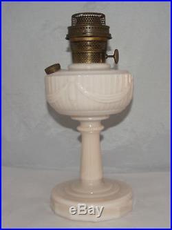 Antique Aladdin Lamp Oil Kerosene Lincoln Drape Light Pale Pink Alacite Color