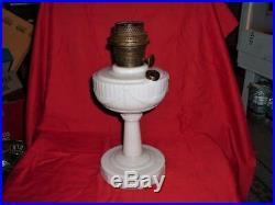 Antique Aladdin Lincoln Drape Alacite Glass Lamp Oil Kero Type B Burner Spreader