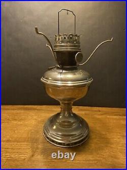 Antique Aladdin Model 11 Kerosene Oil Lamp 1920s Nickel