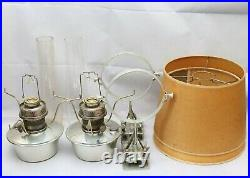 Antique Aladdin Model 23 Train Railroad / Caboose Kerosene Lamps With Brackets
