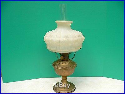 Antique Aladdin Model 7 Kerosene Oil Lamp W 401 Glass Shade