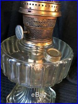 Antique Aladdin Model B Oil Lamp Clear Crystal