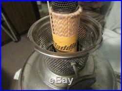 Antique Aladdin Model No. 11 Kerosene Oil Lantern Lamp with Nickel Plated Base