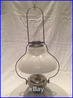 Antique Aladdin Model No 6 Style 116 Hanging Lamp With215 Glass Shade